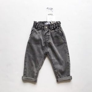 Zara NWT gray baggy soft jeans 9-12 months